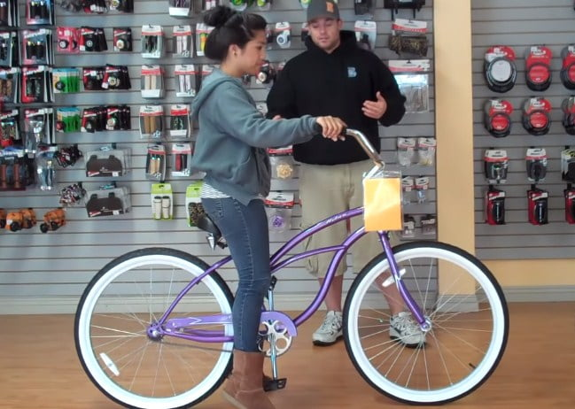 How the size of the wheel affects if a woman rides a 24 inch bike
