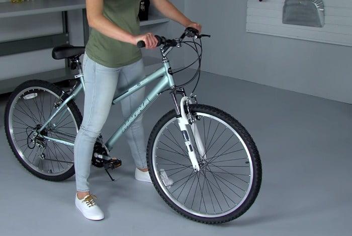 Woman Ride a 24 inch Bike