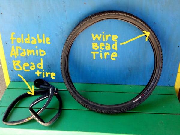 folding bead tire