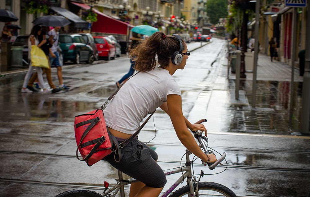 Headphones While Biking